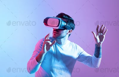 Virtual world and modern technology for game and positive emotions with 3D simulation