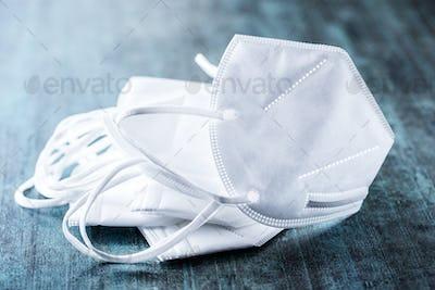 KN95 face mask. FFP2 mask as covid-19 protection. Coronavirus mask