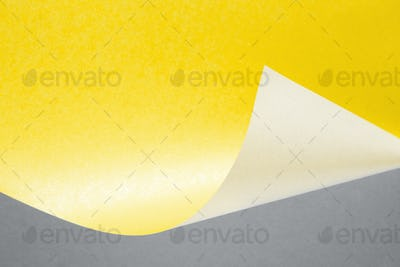 Curve Paper Abstract Background in Illuminating Yellow and Ultimate Gray Color.