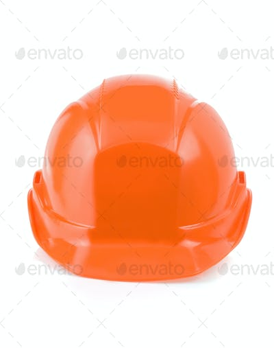 construction helmet tool isolated on white