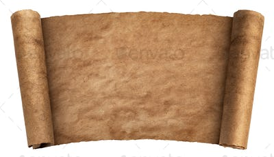Vintage paper texture, old parchment isolated on white background