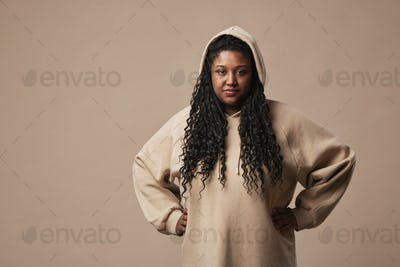 Portrait of Trendy Plus Size Woman