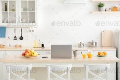 Kitchen for remote work and health care at home, rent flat