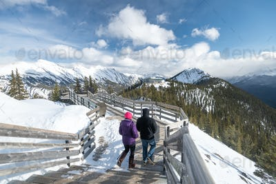 Beautiful landscape in Banff national park in Winter.Banff national park, Alberta, Canada