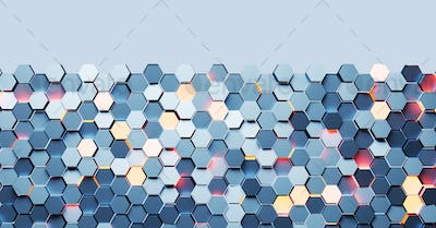 Hexagon pattern background. Modern technology and network concept
