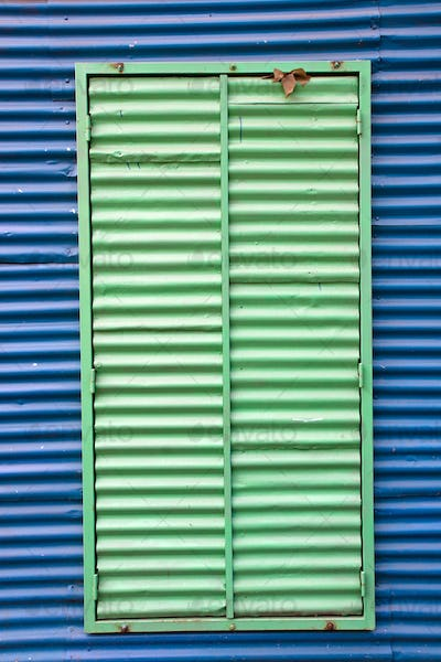 Window with shutters in La Boca