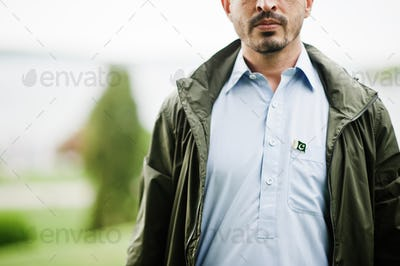 Traditional clothes indian pakistan male portrait.