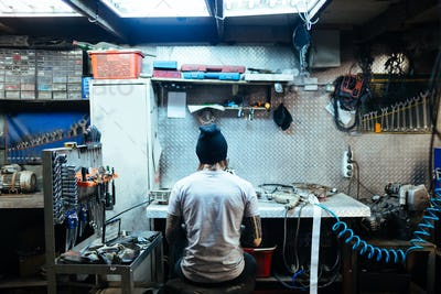 Work in garage
