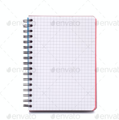 Open blank checked notebook