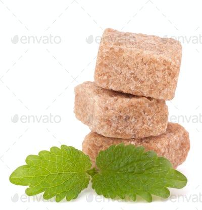 Lump brown cane sugar cubes
