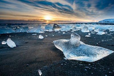 Diamond beach in Iceland