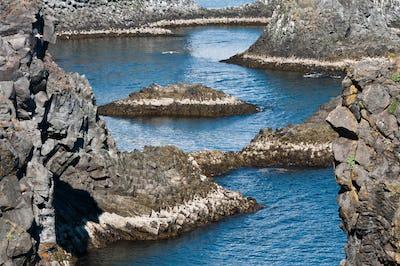 Arnarstapi rock formations of Iceland's coast