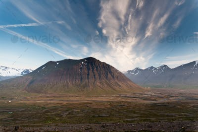 huge mountains in Iceland in wonderful light