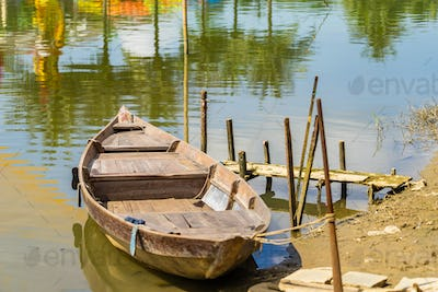 Boat in the river in Hoi An