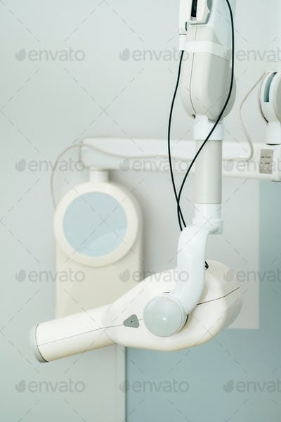 Equipment in the X-ray dental office in the hospital