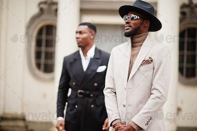 Two fashion black men