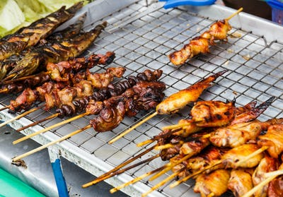 Grilled meat stick