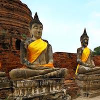Buddha statue in Ayutthaya in Thailand