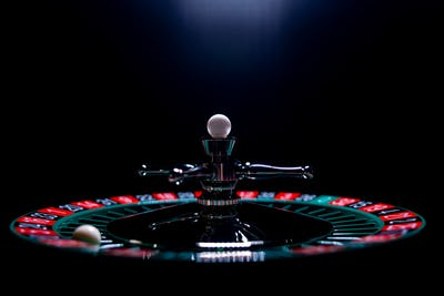Roulette table close up at the Casino