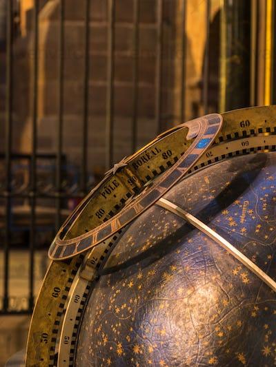 Astronomical clock in Notre Dame de Strasbourg in Alsace