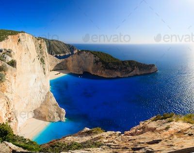 Shipwreck Navagio beach in Zakynthos