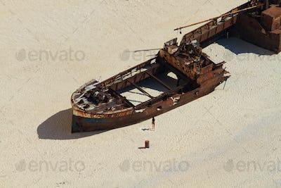 Shipwreck Navagio beach in Zakynthos island