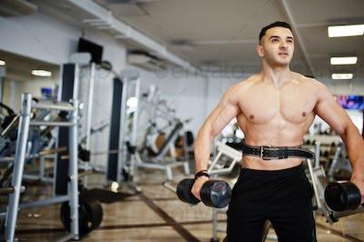 Muscular arab man