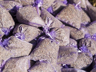 Bags with dried lavender