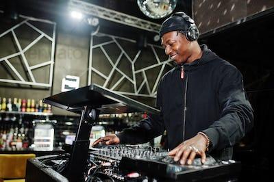 African american man dj