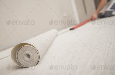 Roll of Modern Vinyl Wallpaper