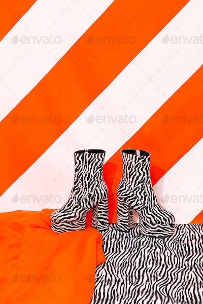 Stylish platform Lady boots