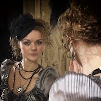 Beautiful Woman Portrait in Classic Interior