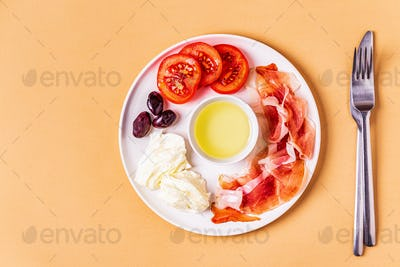 Ketogenic Diet Food, healthy meal, top view.