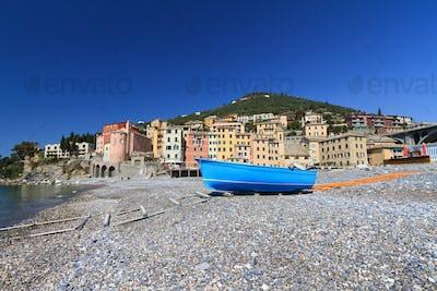 seaside in Sori, Italy