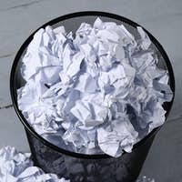 Creased paper