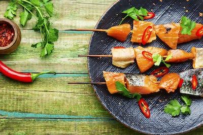 Dried fish salmon