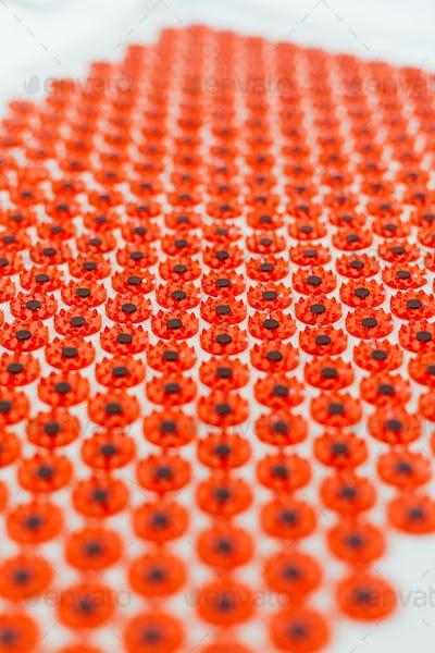 Acupuncture mat closeup