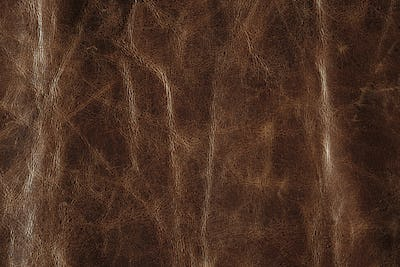 Brown leather texture background, genuine leather.