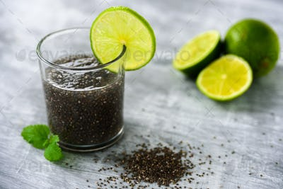 Chia seed and lime water