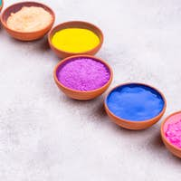 Gulal pigments for Holi festival of colours