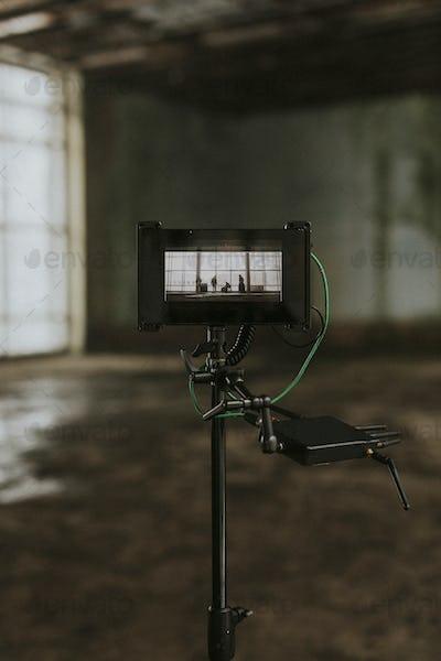 Musician video shoot