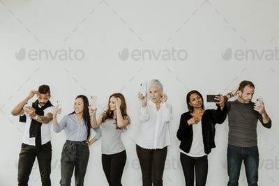 People using digital device