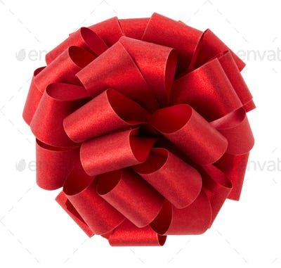 Red glitter ribbon on white background , clipping path included