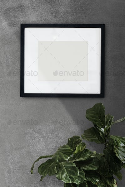 Picture frame  on a wall