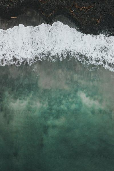 Talisker Bay drone view