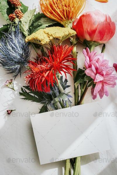 Beautifully arranged flowers