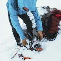 Winter hiking at Forcan Ridge