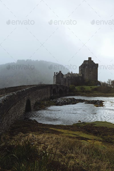Castle ruins by the sea