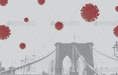 The Brooklyn Bridge during coronavirus pandemic