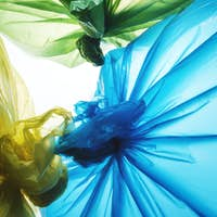 Colorful disposable plastic waste